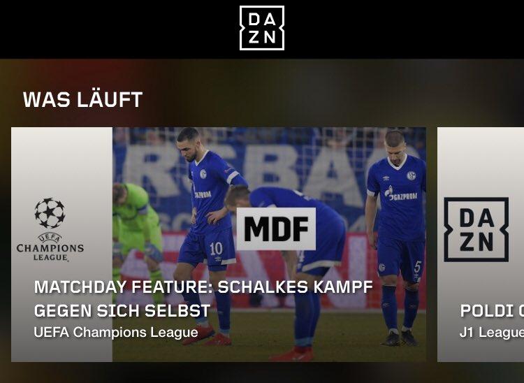 """Jetzt online bei @DAZN_DE - das Matchday-Feature über #S04MCI: """"Schalkes Kampf gegen sich selbst"""" - unter anderem müsst ihr aber mich als Experten aushalten. #S04 #Schalke"""
