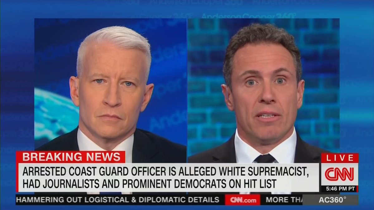 Chris Cuomo thought of his family after learning he was on Coast Guard officer's hit list https://t.co/gd5yoxOmeg
