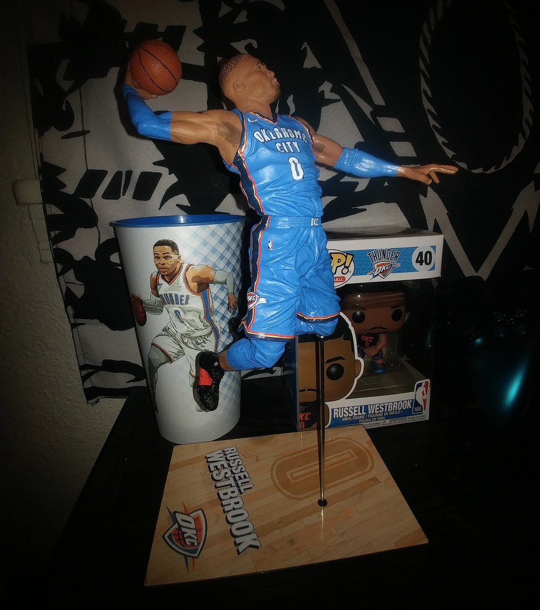 This figure of the G.O.A.T. is so dope! 🔥🏀 #ThunderUp #whynot #RussellWestbrook  @russwest44 @okcthunder