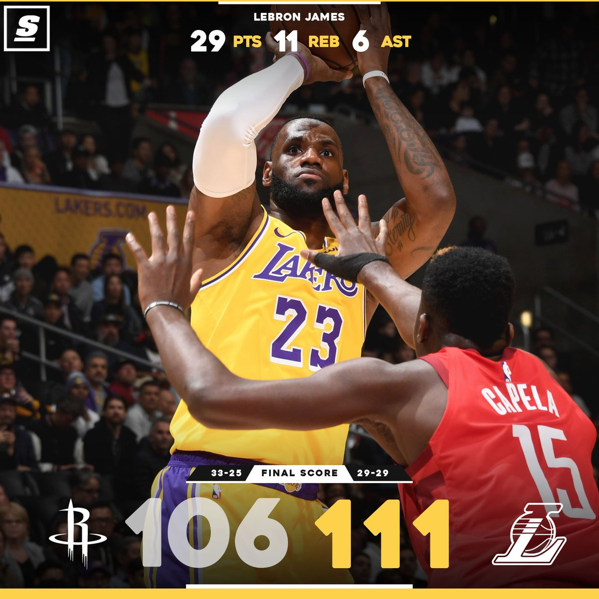 What a comeback win for @KingJames and the @Lakers. 👀 💯