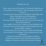 Image for the Tweet beginning: Today's Gospel  Matthew 16:13-19  #Scripture #scriptureoftheday #BibleStudy