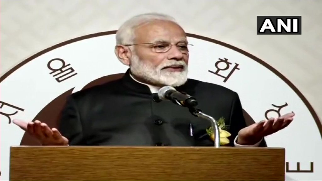 PM Modi: I would like quote a portion of the 1988 Olympics Theme Song, as it captures the hopeful spirit for a better tomorrow for all- 'Hand in hand, we stand, all across the land, we can make this world, a better place in which to live'