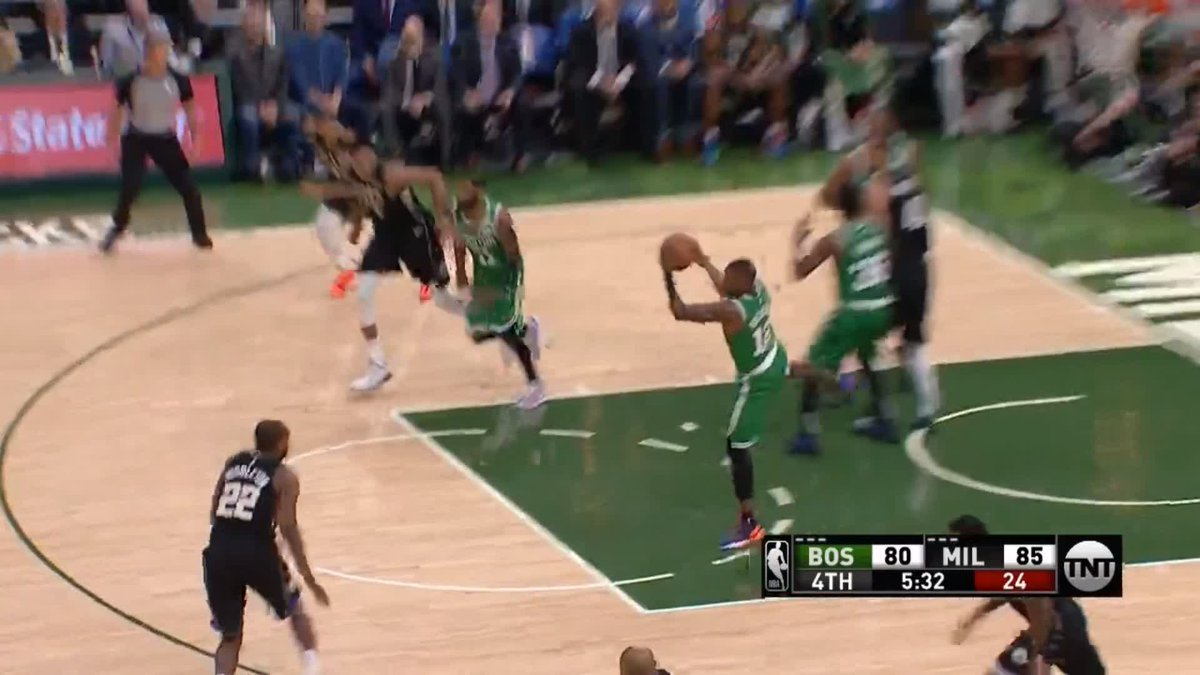 🏀❗️REJECTED! @Giannis_An34 unleashes chase-down block on Jayson Tatum as #Bucks edge #Celtics #fearthedeer #CUsrise #nba  📲 Watch full highlights - http://skysports.tv/o8fq0o
