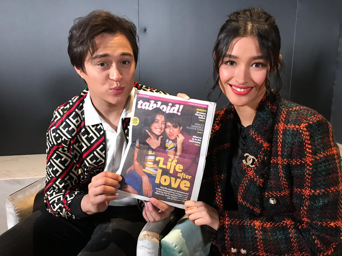 Hey, #LizQuen fans, how's your Friday going? We are keeping it chill,  hanging out with #LizaSoberano and #EnriqueGil as they promote their new film #AloneTogether in  #Dubai