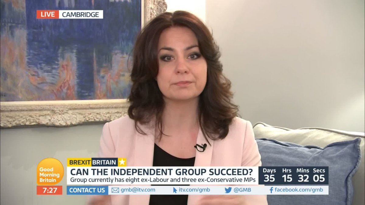 'There needs to be an alternative.'  With only 35 days to Brexit, both May and Corbyn could face a slew of MPs leaving the major parties to join the Independent Group.  @ChukaUmunna and @heidiallen75  discuss how this new cross-party movement works.