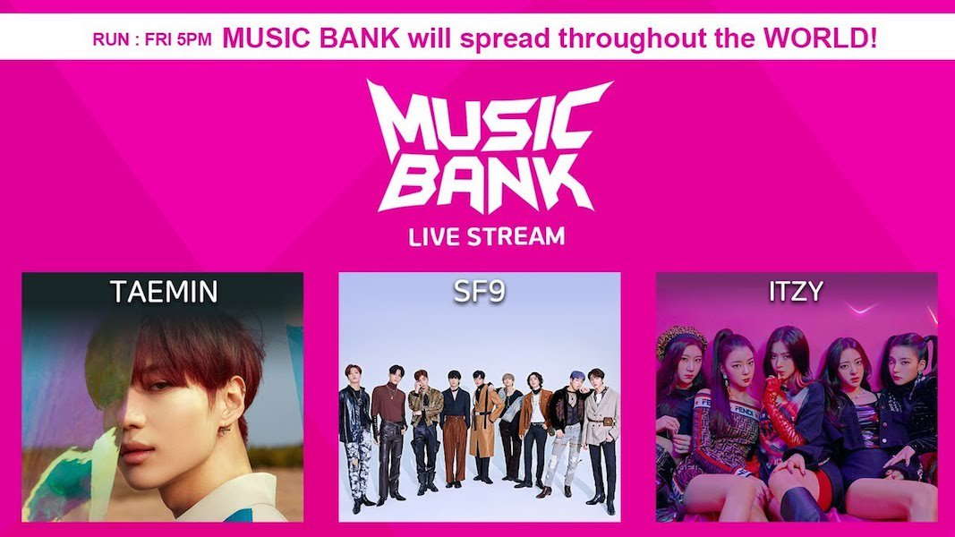 WATCH LIVE: #Taemin, #MONSTA_X, #SF9, #ITZY, And More Perform On &quot;Music Bank&quot;   https://www. soompi.com/article/130551 5wpp/watch-live-taemin-monsta-x-sf9-itzy-and-more-perform-on-music-bank &nbsp; … <br>http://pic.twitter.com/7sLYI2giS1