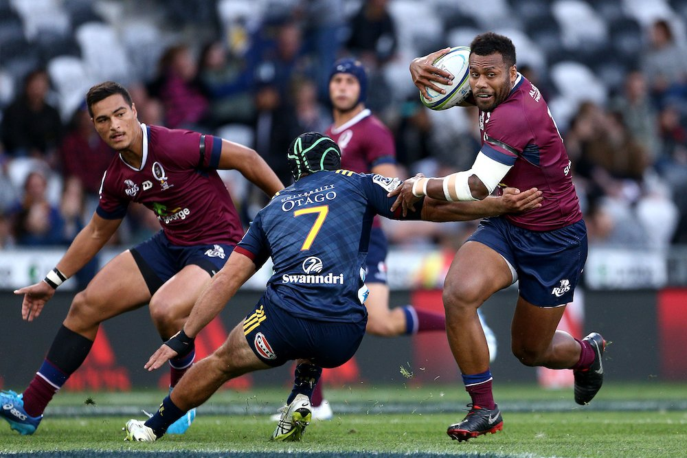Thriller in Dunners! @Reds_Rugby  have fought back and are now leading 31-29 over the @Highlanders with 20 minutes left on the clock.  LISTEN LIVE:  https://t.co/ugsyFEenlv