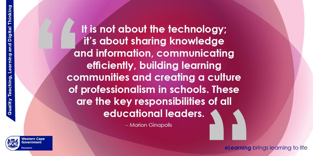 Technology can be 1 of our greatest assets in nurturing a knowledge&information sharing culture.Fostering a culture that embraces knowledge sharing is one that helps fill information gaps,scale output, improve productivity,&stimulate the leadership. @WCEDnews @WCED_HOD #sharing