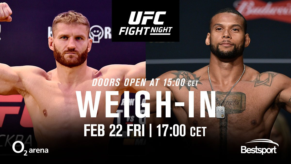 See you soon, Prague!  #UFCPrague Weigh-Ins from the O2 FREE & OPEN to the public!