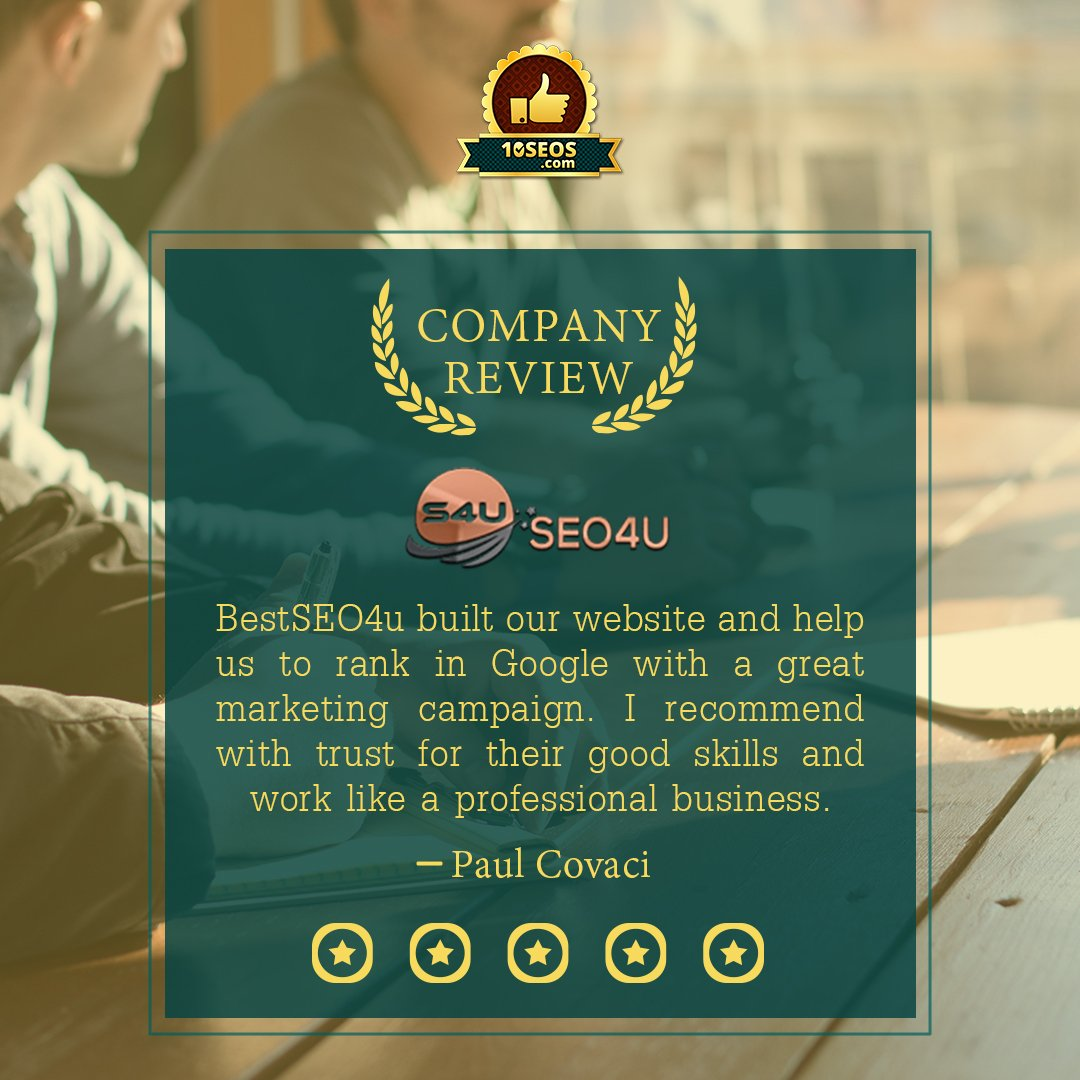 An impressive review on 10seos of @Best_SEO4u to 10seos. Company profile- http://bit.ly/2Dv9kFL  #reviews #SEO #socialmediamarketing #DigitalMarketing #agency #MarketingDigital #MondayThoughts #MondayMotivation #SocialMediaManagement #searchengine #search #reputation