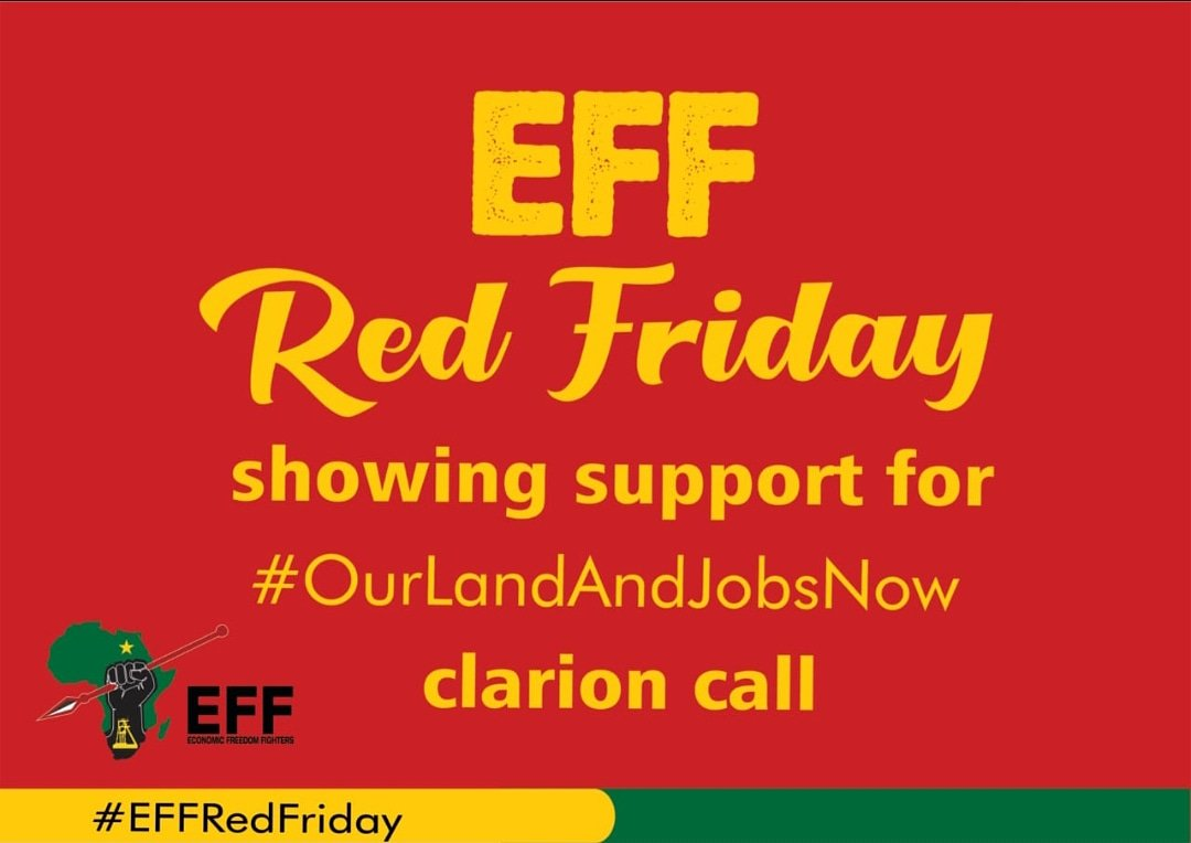e4c808010 Economic Freedom Fighters On Twitter We Wear Red Every Friday