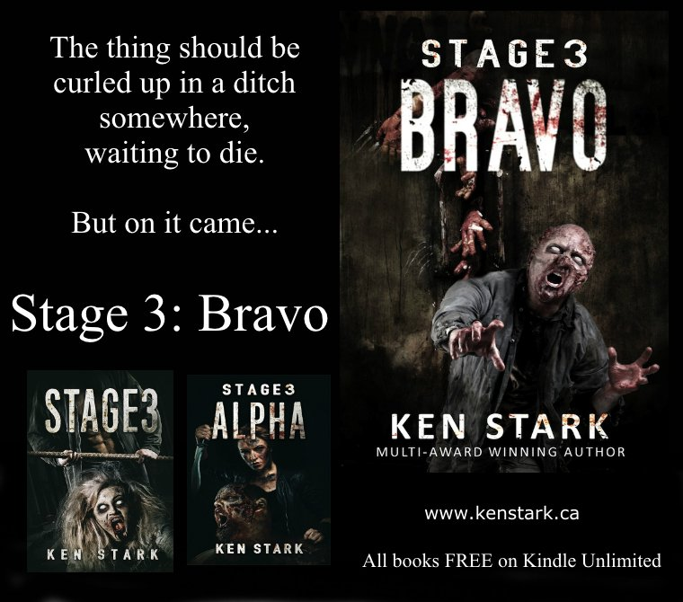 The scent of blood was like chum in the water. Every one of those sightless things was agitated. On alert. Ready to charge after anything that made a sound, and rip it to shreds.   https://www. amazon.com/gp/product/B07 L1C3FDM &nbsp; …  #Zombie #Apocalypse #horror #IARTG #Stage3 #series #Stage3Bravo FREE on KU <br>http://pic.twitter.com/yj1PFPd8nm