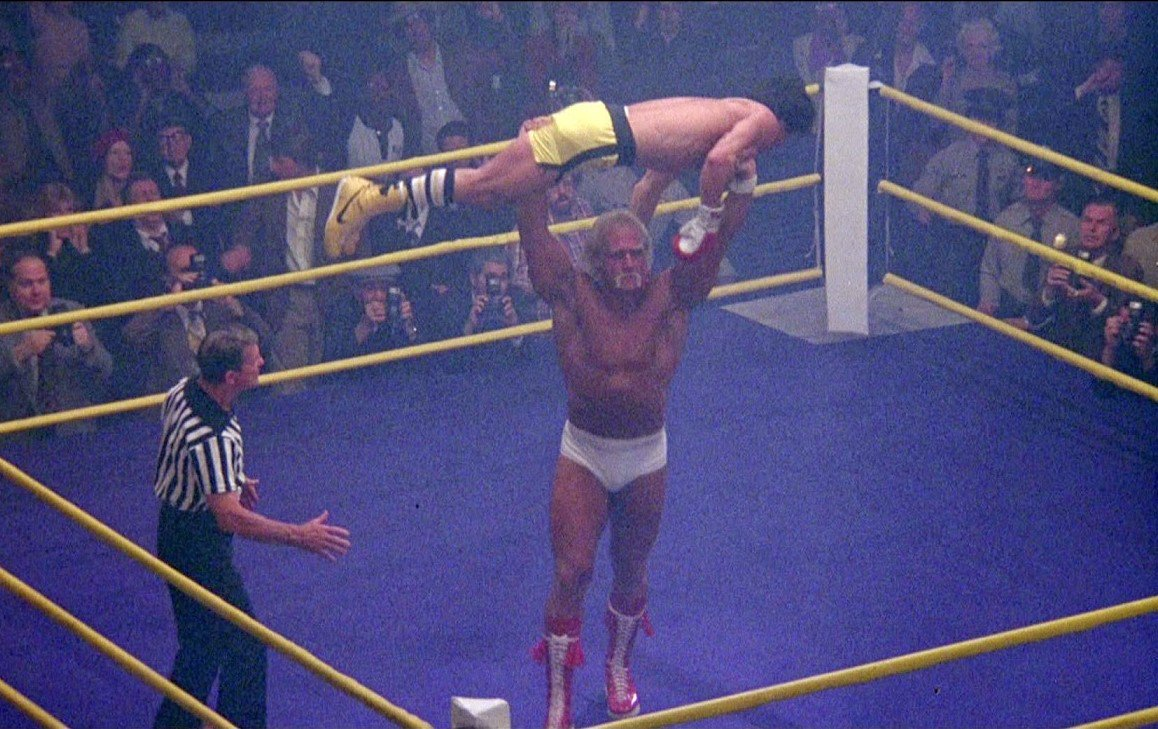 Sylvester Stallone, Hulk Hogan, and Ray Gedeon in Rocky III (1982) <br>http://pic.twitter.com/nrd2waafOP