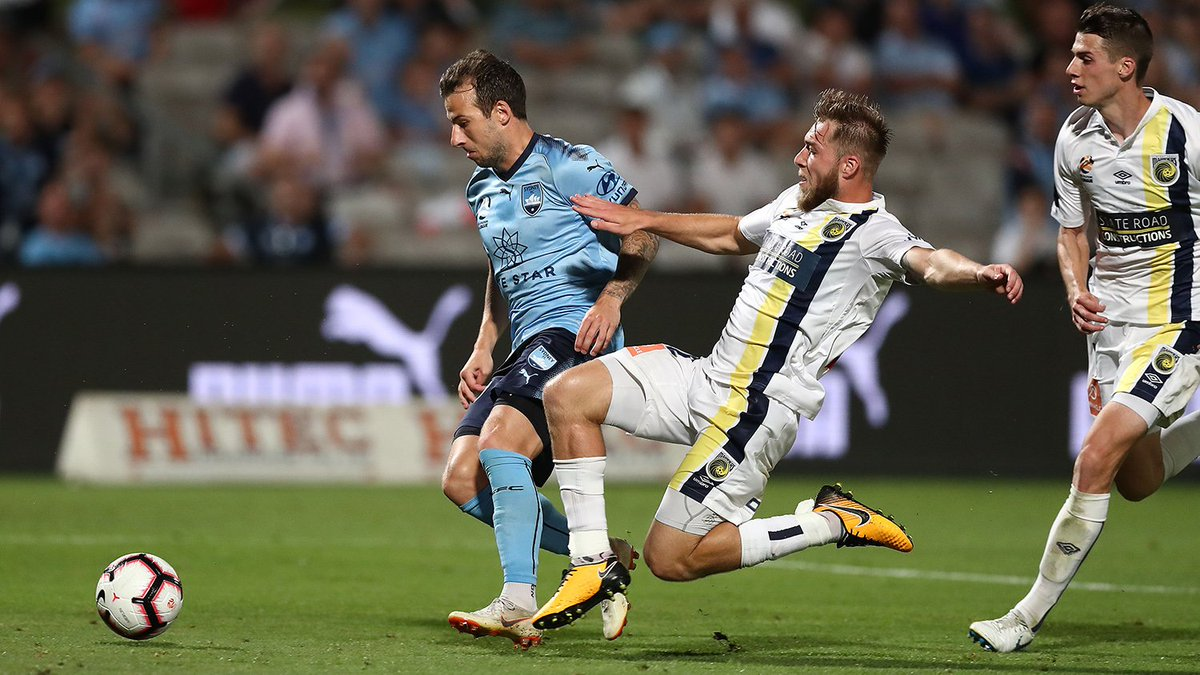 """Jem Karacan 🗣 """"It'll be good to play against @A1F1E9 but he knows that as soon as we step over the line I'll be making sure I stick one on him."""" 👀  On Sunday, two friends become foes when Karacan faces Le Fondre at Leichhardt Oval.  #SYDvCCM Preview: http://bit.ly/2SRAHDD"""