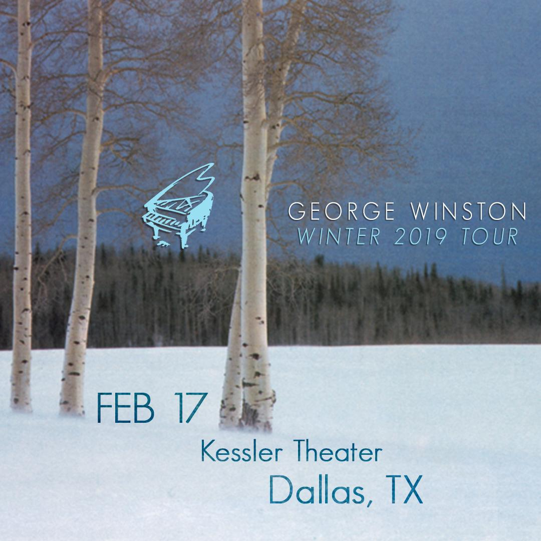 Tomorrow, George Winston will be live in concert at @KesslerTheater  in #dallastx.