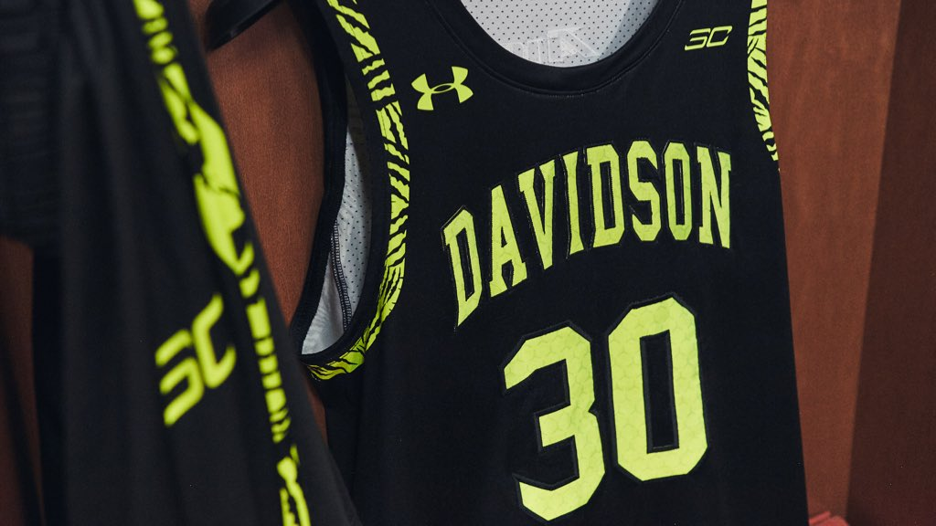 What better way for @DavidsonMBB to celebrate All-Star Weekend than limited edition Blackout Belk jerseys, the Curry 6 'Coy Fish' and a FaceTime call from @StephenCurry30? #TCC