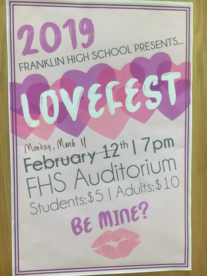 """Lovefest"" rescheduled on Monday, March 11"