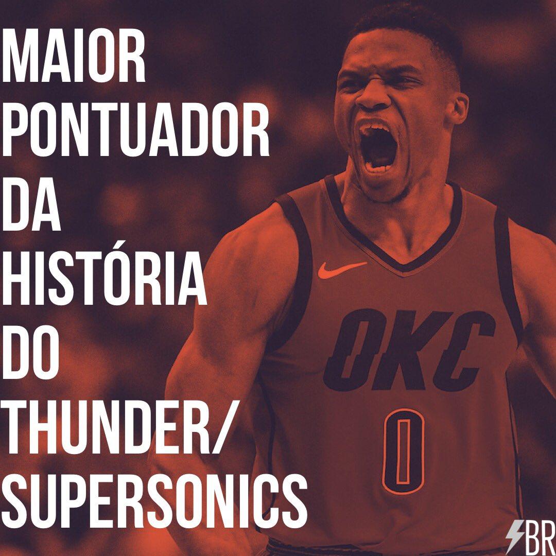 Russell Westbrook ultrapassou Gary Payton e se tornou o maior pontuador da história do Oklahoma City Thunder/ Seattle SuperSonics! #hist0ry ⚡️