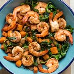 Image for the Tweet beginning: Try out my Sweet Potato-Shrimp