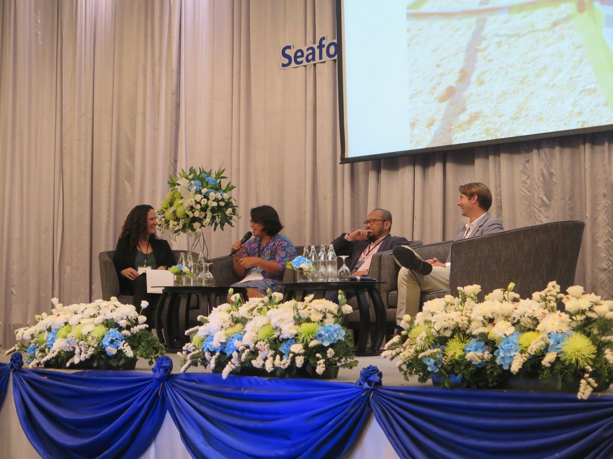 Stephani Mangunsong, Supply Chain (SC) Manager of MDPI had an opportunity to talk about 'Traceabilty-Based Technology for Indonesian Small-scale Fisheries Supply Chain' at the panel discussion session during Seafood and Fisheries Emerging Technologies (SAFET) Conference 2019.