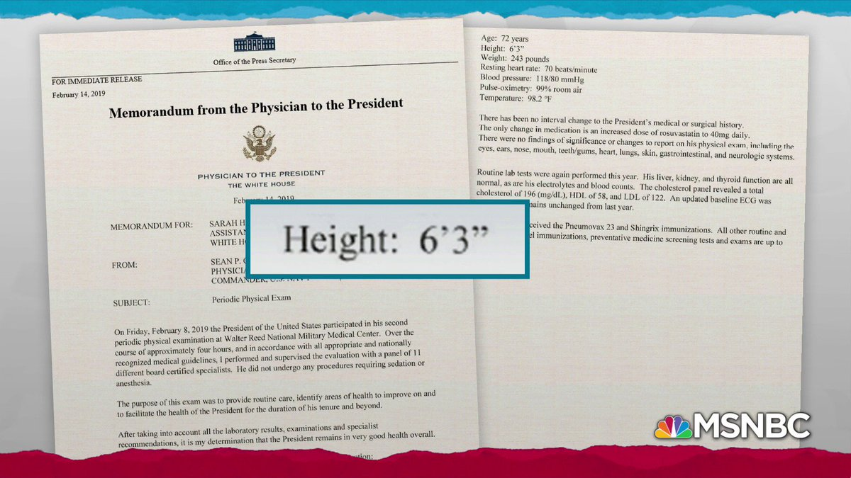 """Donald Trump may be 6'3"""" in his mind, but he is not 6'3"""" in his body."""