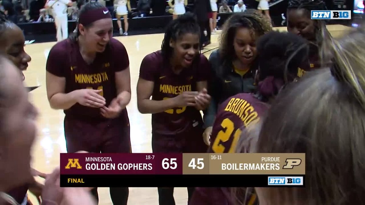 The top plays from @GopherWBB's 65-45 victory over Purdue.