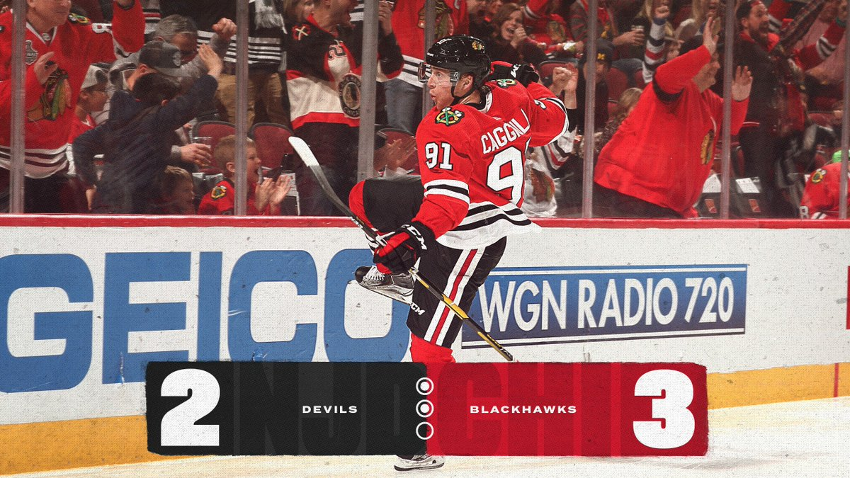 And I'm gonna keep on lovin' you!  Period 2 is in the books. The #Blackhawks also hold the edge in shots on goal 28-24 after forty minutes of play. #CHIvsNJD