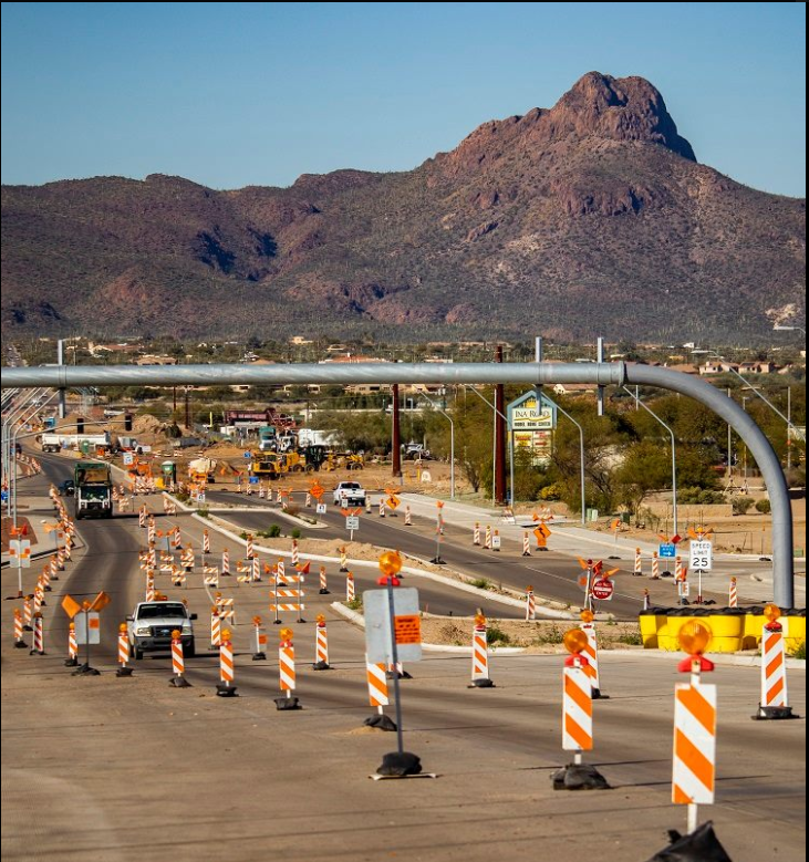The new Interstate 10 interchange at Ina Road in Marana is set to open in the coming weeks with high-tech cameras and sensors to keep traffic flowing. Learn more about the project in a growing area northwest of Tucson:  https://t.co/PTTEsYOGqE