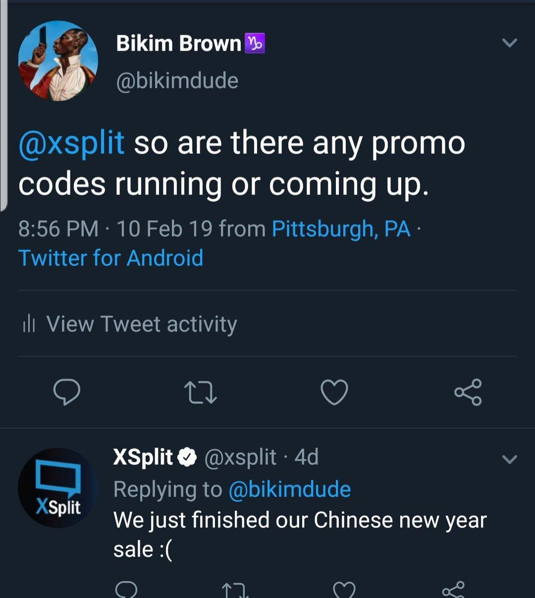 XSplit on Twitter: