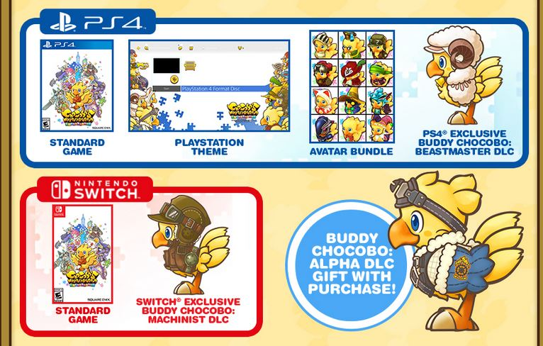 Chocobos Mystery Dungeon Switch Physical | Asdela