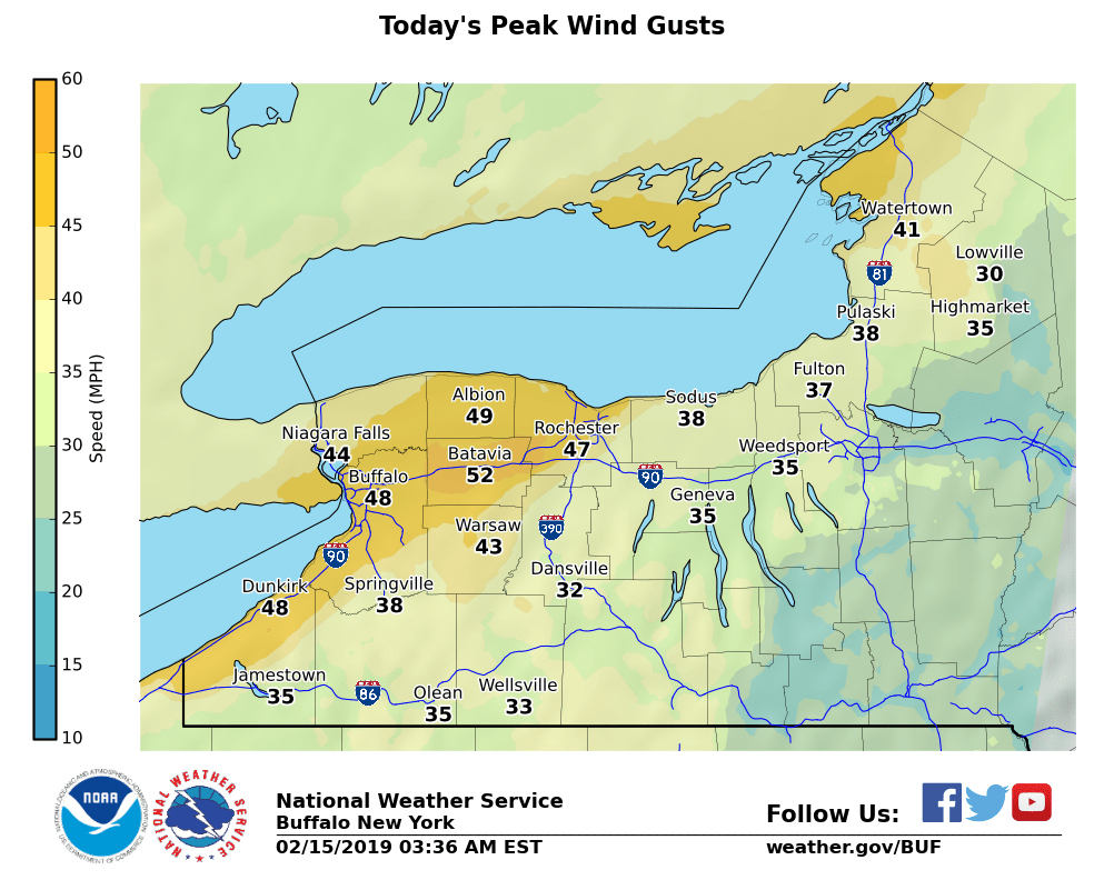 DAILY FORECAST: Gusty winds, snow showers likely in the FLX