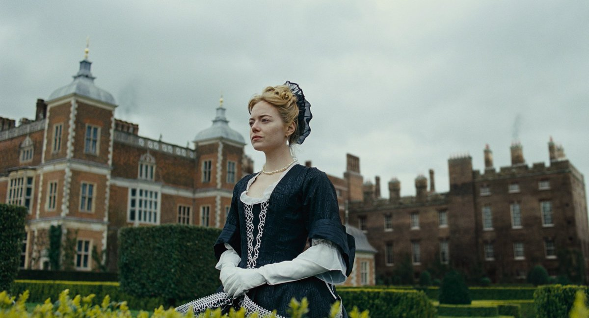 Be careful for what you wish for. 👑  @the_favourite starring Emma Stone, Olivia Colman, Rachel Weisz, and @NicholasHoult revolves around political jealousy and foreign wars with a twist of English wit and carnal desires.  #TheFavourite