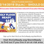 Image for the Tweet beginning: All #HolyFloodWatch mandatory Evacuation Orders