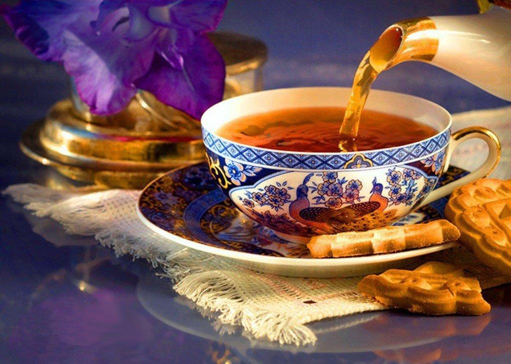 Открытки доброе утро с чаем, открытки крыма открытки