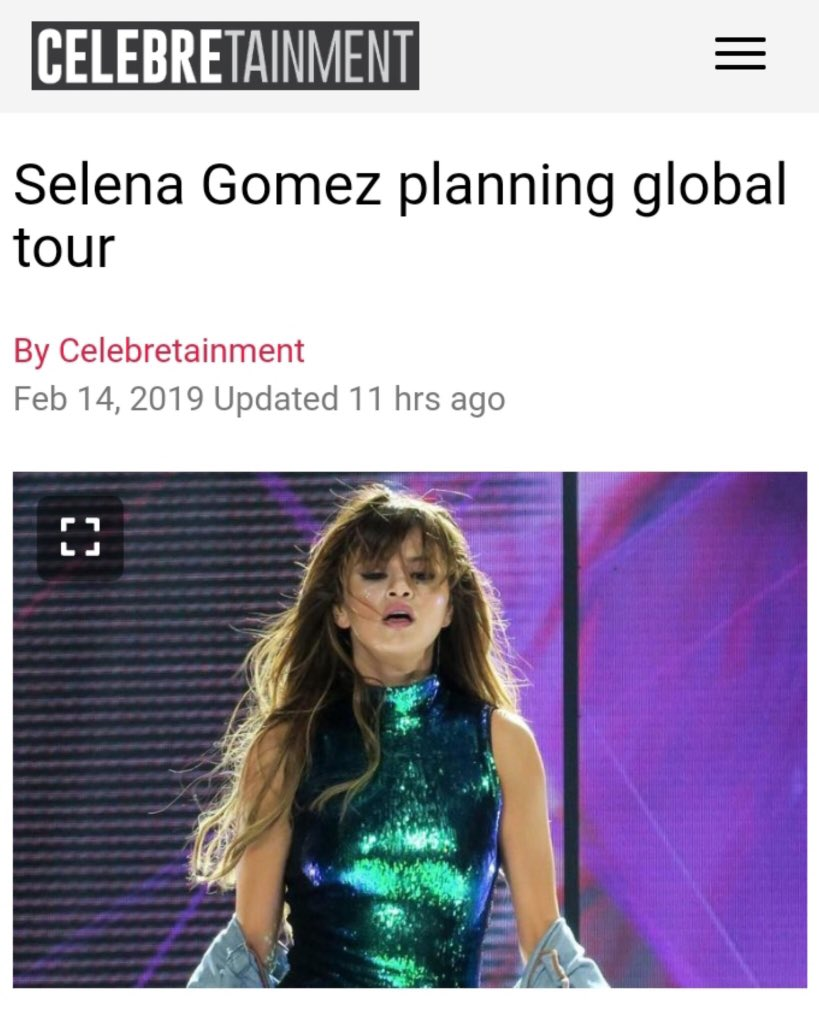 Selena Gomez planning global tour <br>http://pic.twitter.com/G1uWtbs3EX