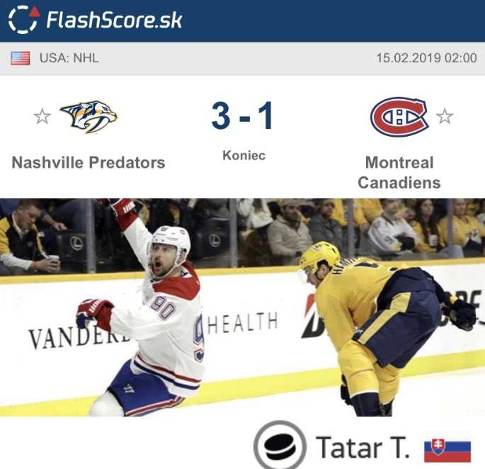 Flashscoresk On Twitter Tomáš Tatar Strelil Jediný