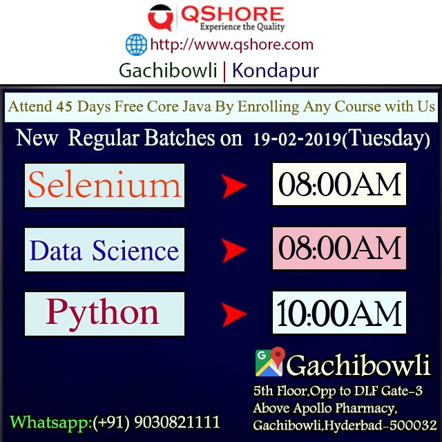 Datasciencetrainingingachibowli hashtag on Twitter