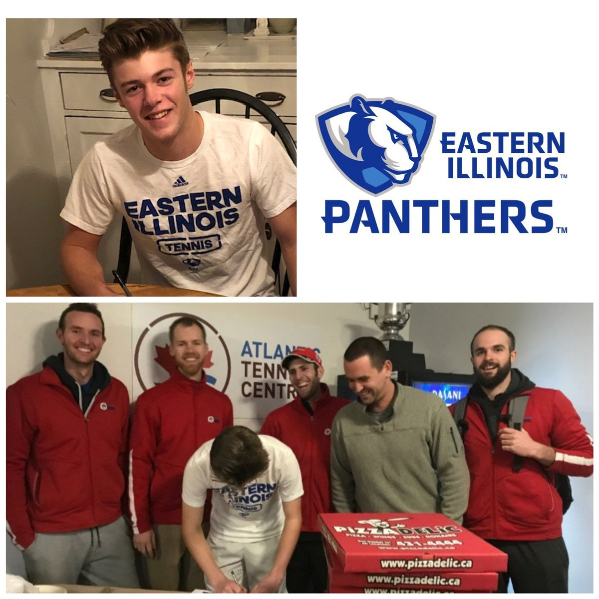dreams can come true! off to Illinois in August @EIUTennis super proud of Thomas' commitment- not easy route from Atl Cnd - no shortcuts and alot hard work along the way...   thankyou coaches🎾🎾♥️  @AtlanticTennis #ncaa #div1