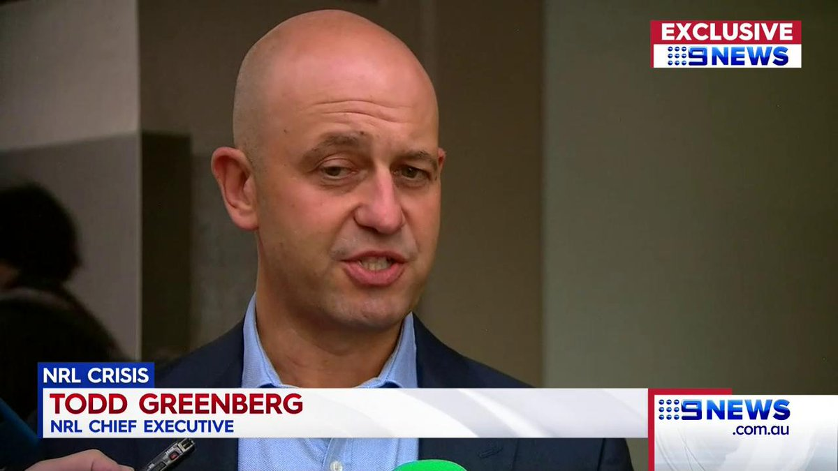 Todd Greenberg would rather be talking about tonight's All Star fixture, but instead the league boss is still being dogged by the off-season from hell. @Danny_Weidler #9News