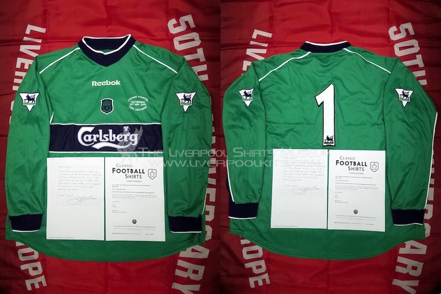 0eae8eaa2 ... Match Goalkeeper Match Issued Shirt of Sander Westerveld