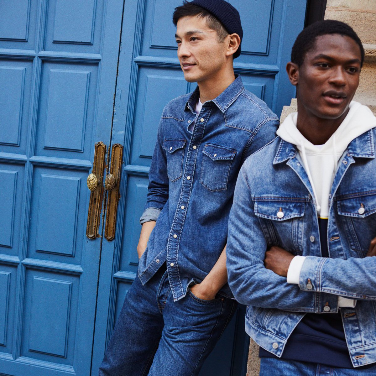Looking for a fresh denim shirt or jacket? Get bot...