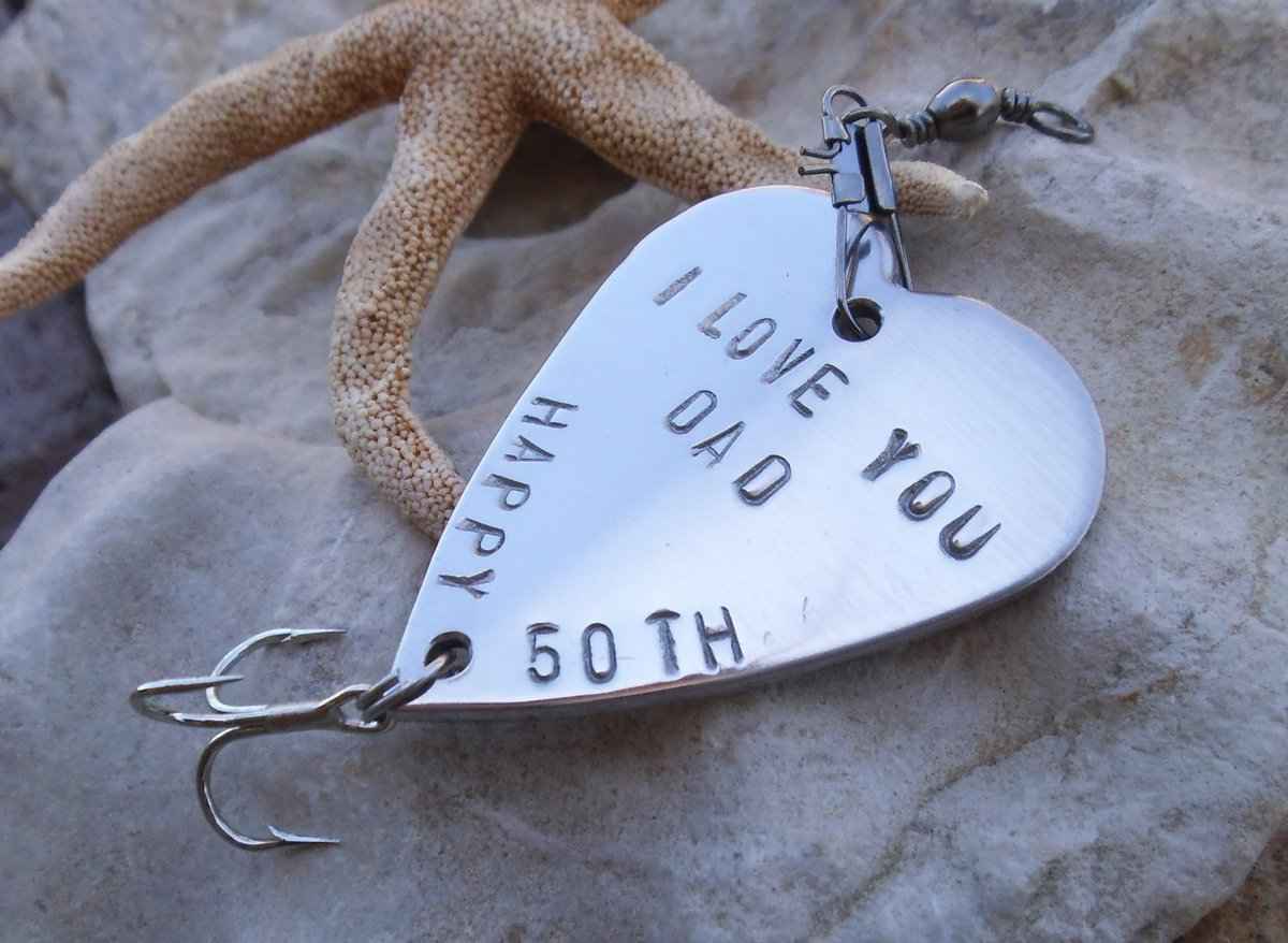 50th Birthday Gift for Dad 40th Birthday Party Favor Fishing Lure Personalized 65th 23rd 90th Husband Brother Teacher Boss Co-worker Friend http://tuppu.net/7096cbcb #CandTCustomLures #Shopify #BlackFridaySale