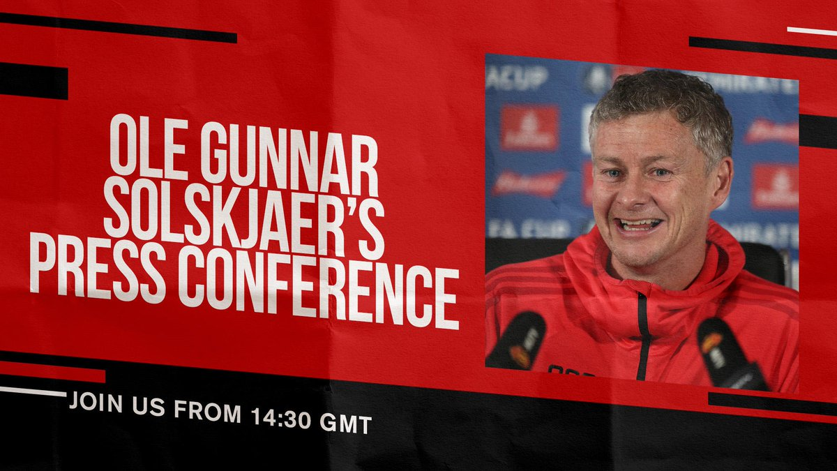 Ole will preview Monday's #EmiratesFACup tie at Chelsea later today... #MUFC