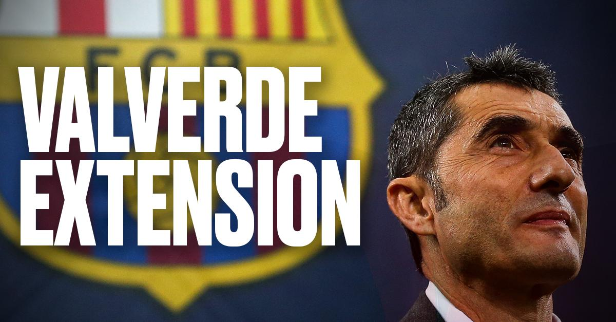 OFFICIAL: Barcelona extend Ernesto Valverde's contract at the club until 2020, with an option of a further year 🔵🔴