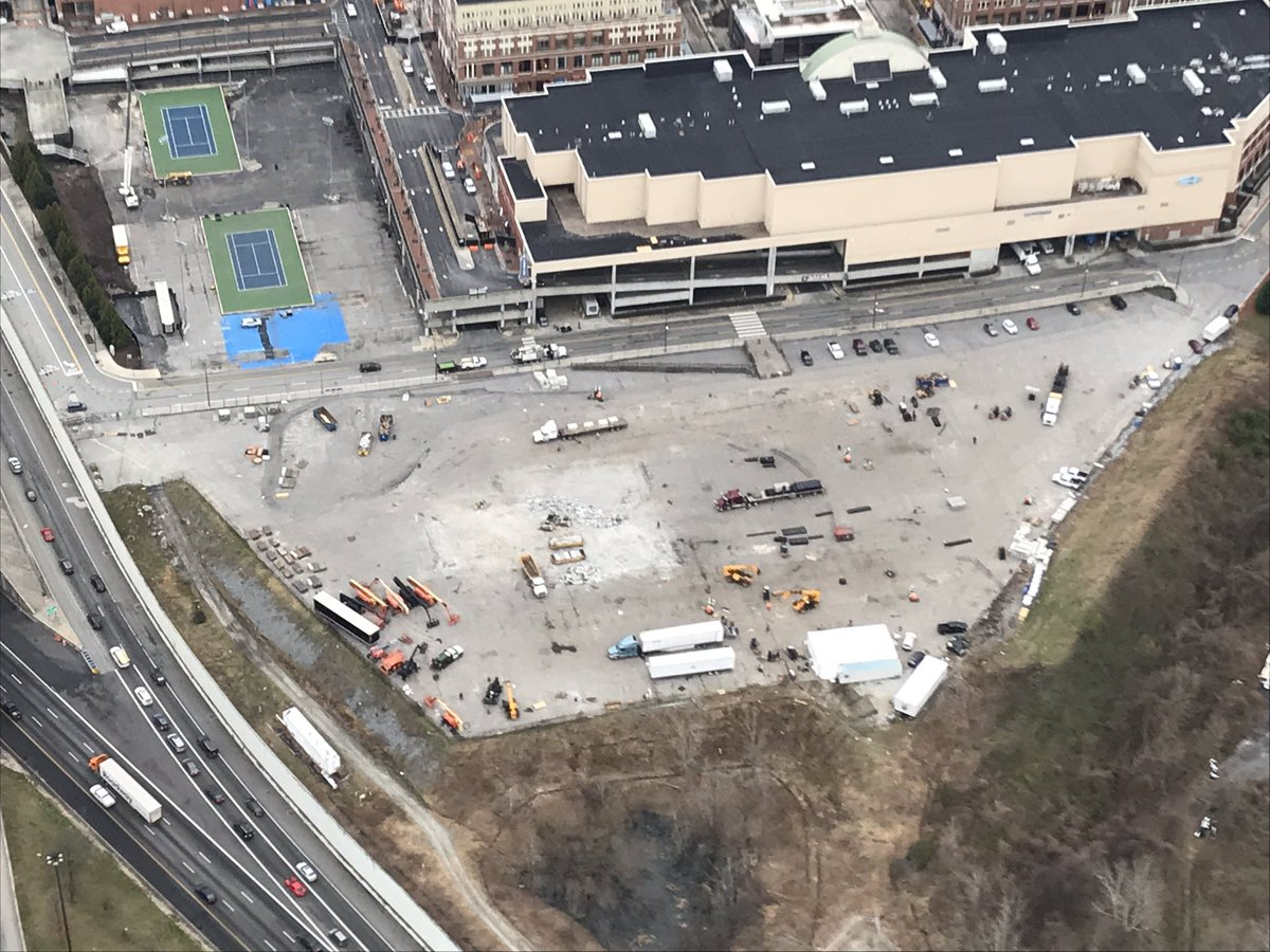 Hey @foofighters we hardly knew ye! Thanks for a #super #show during @SuperBowl weekend here in #Atlanta & now take a look at what's left of your venue @AtlanticStation @wsbradio #skycopter @wsbtv  #captncam