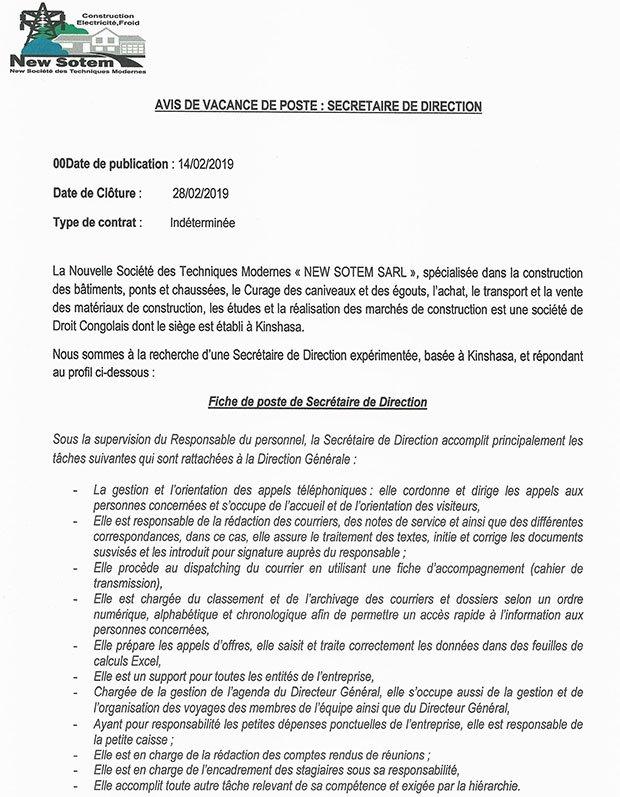 Joyce Rezende Masangu On Twitter Offre D Emploi