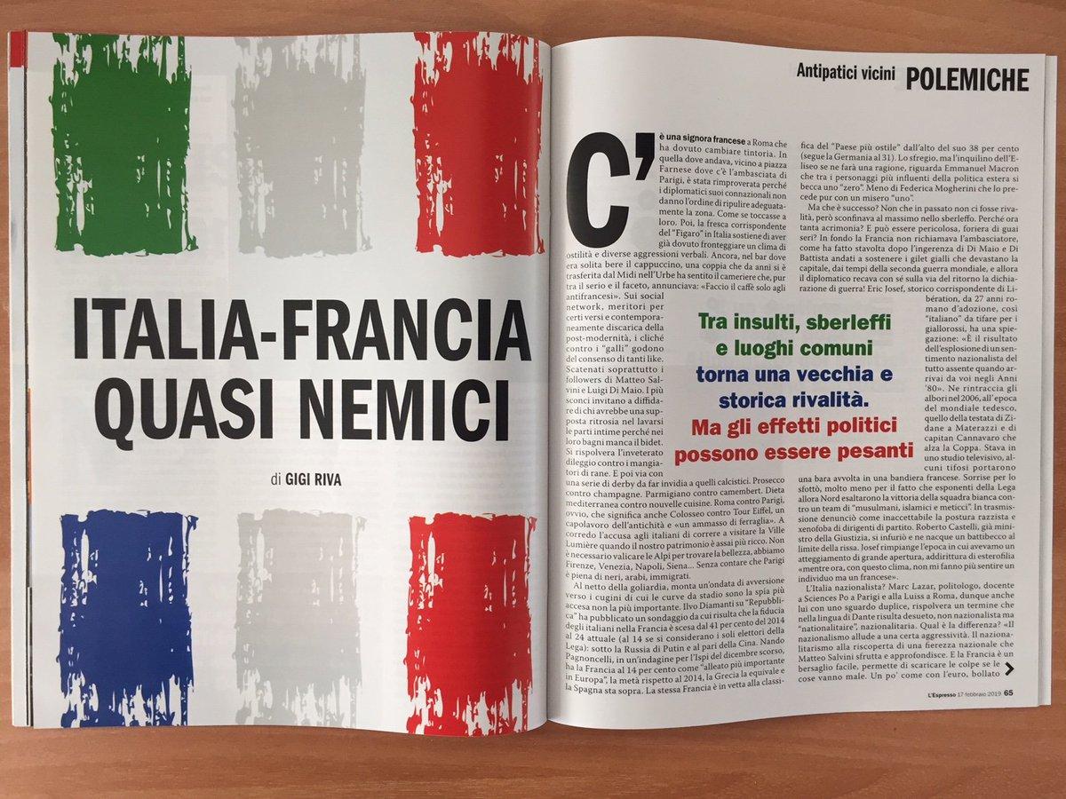 Italia e Francia, una rivalità che torna a potrebbe costarci casa. Ve lo raccontiamo su #lespresso in edicola  Per leggerlo online 👉https://t.co/q2GkoNQKkO  Per scoprire gli altri articoli della settimana 👉  https://t.co/v4O5KlCfsV