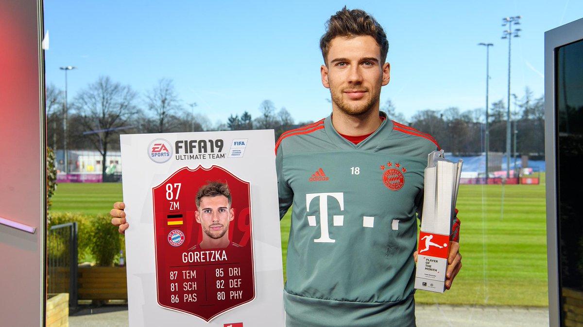 8️⃣0️⃣s all round. That man Leon Goretzka is the #BundesligaPOTM for January! @Bundesliga_EN @FCBayern #FUT #FIFA19