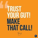 Give me a high-five if you agree ✋🏻 Your gut your inner voice telling you to cut through the fear and go for it. Make that call NOW!! #growthmindset #businesscoach #realestate #tomferry
