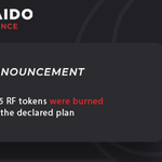 Image for the Tweet beginning: ⚡️75,704,435 RF tokens were burned🔥,